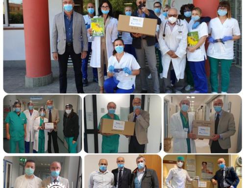 Rieti, il Rotary ha consegnato 300 visiere protettive agli operatori sanitari